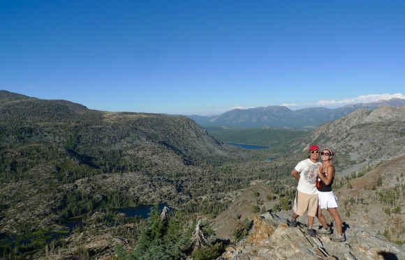Reem and J, overlooking the valley by Jabu Lake