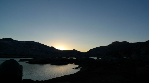 Sunset over Lake Aloha and Mosquito Pass
