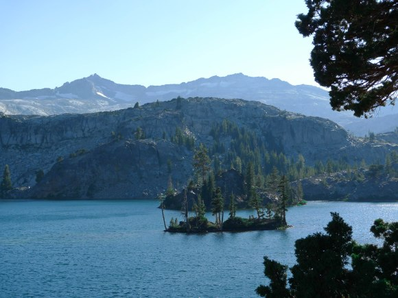 The islands on Heather lake, with the Crystal Range in the background