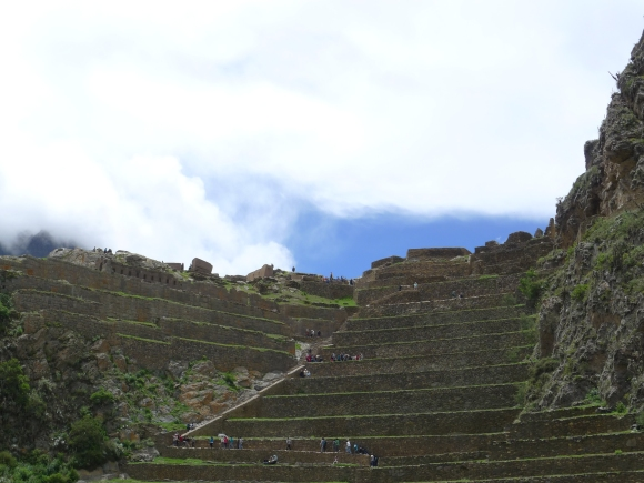 The stairs and terraces