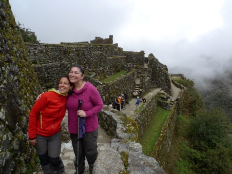 Nuria and Natalia by one of the Incan sites on Day 3