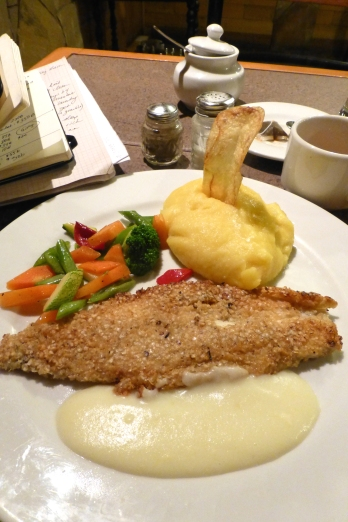 The bomb fish dish with whipped potatoes
