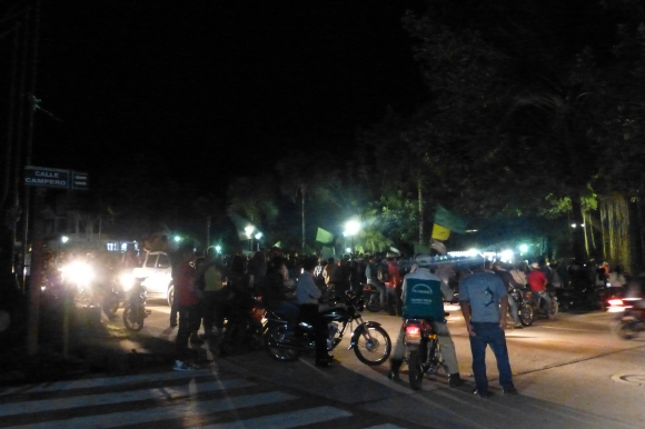 Election Day celebrations at the main square in Rurrenabaque