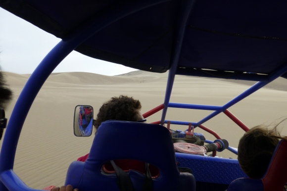 Hurling down the dunes in the buggy elicited tons of screams each time