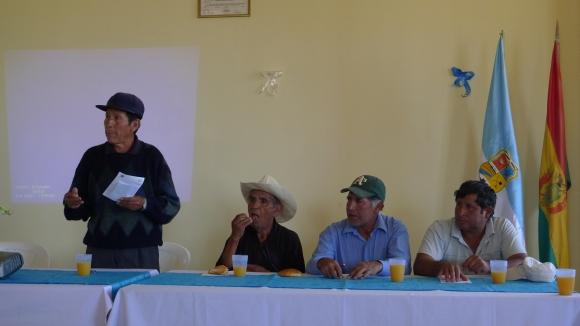 A panel of local elected officials and organizers, speaking on GMO's and local farming rights
