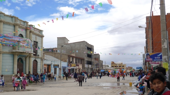 Getting ready for the festivites in Uyuni