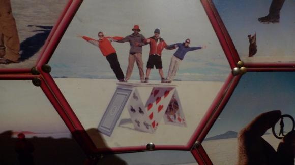 Perspective photos on the Salar de Uyuni