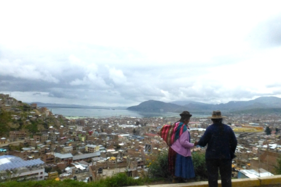 Puno mornings - a view of the city and Lake Titicaca