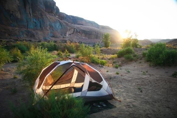 Moab campsite